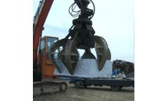 Lydite - Model BY1500H - BEIYI 1500H high quality 4 teeth hydraulic rotating grapple fit for 20T excavator