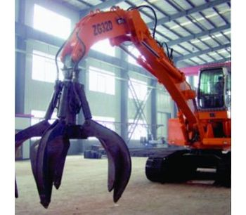 BEIYI 1500H high quality 4 teeth hydraulic rotating grapple fit for 20T excavator-1