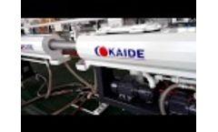 High speed 35m/min PERT pipe line Video