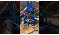 Small Water Borehole Well Drilling Rig - Video