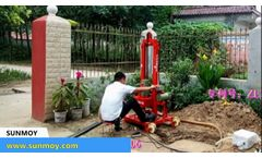 Small Portable Water Borehole Well Drilling Machine Rigs for Sale - Video