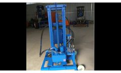 SH260D Hydraulic 220V Drilling Rig of Water Borehole Well - Video