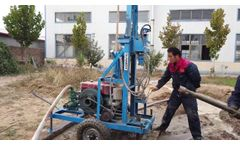 Portable Hydraulic Water Well Drilling Rig HF260D-100 - Video