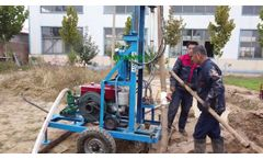 HF260D Diesel Engine Hydraulic Drilling Rig with Integrated Centrifugal Mud Pump - Video