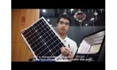 100W Wireless Solar Flood Light Mono Solar Panel with LiFePO4 Battery Built-in - Video