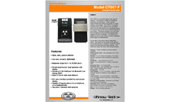 Arrow-Tech - Model CT007-F - Survey Meters Brochure