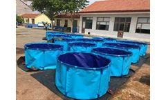 Space-Bladder - Collaspible Folding Durable Koi Fish Tank for Koi Fish Showing