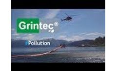 Grintec containment boom protection against hydrocarbons oil spill by Sanergrid Video
