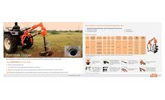 Shaktiman - Model SPHD - Hydraulic Post Hole Digger Brochure
