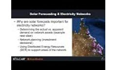Solar power forecasting for electricity networks