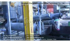 Kingtiger Waste Rubber Recycling Plant in Korea | Rubber Pyrolysis Machine | Rubber Oil Plant - Video