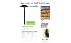 EcoWattle - Model 18 Inch - Wattle Stake - Datasheet
