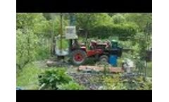 Tractor mounted water well drilling machine working site Video