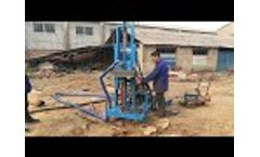 AKL-150Y diesel engine hydraulic portable water well drilling machine - Video
