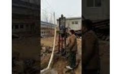 Portable Hydraulic diesel engine water well drilling rig - Video