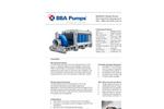 """BBA Pumps - Model BA500G D675 - 20"""" Diesel Set Pump Datasheet"""