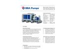 BBA Pumps - Model BA-C150H7 D418 - High Pressure Pump  Brochure