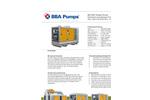 BBA Pumps - Model BA150E - 6-Inch Sewage and Dewatering Trailer Pump Datasheet
