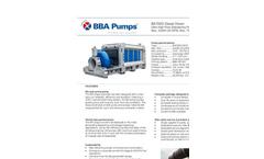 BBA Pumps - Model BA700G D810 - High Flow Flood Relief Mobile PumpsDatasheet