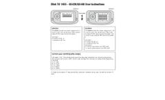 Eltek - Model GS42H & GS44H (A/B/C/D/E) - Transmitters for Heat Flux Monitoring  User Instructions Brochure