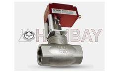 Hanbay - Model MCM-000XX-3-40276-075 - Compact Electric Globe Valve Actuators