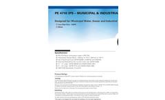 Charter Plastics - Model PE 4710 - Municipal & Industrial Iron Black Pipe Brochure