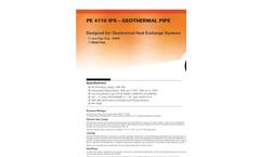 Charter Plastics - Model PE 4710 - Black - IPS - Geothermal Iron Pipe Brochure