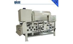 QILEE - Model QTBH-1250 - Sludge Thickening and Dewatering Belt Press Suitable for Low and Middle Consistency