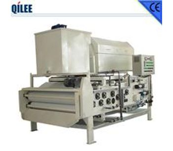 QILEE - Model QTBH-1000 - Rotary Drum Sludge Thickening and Dehydrating Belt Press Suitable for Low and Middle Consistency