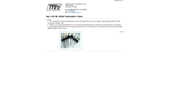 Model HR160 - Thermowells & Tubes - Datasheet
