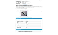 Model Grade LT-1 - Metal-Ceramic Thermocouple Protection Tubes - Datasheet