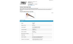 Techoloy Thermocouple Tubes - Datasheet