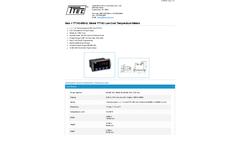 Model TT743-6R0-0 - Low-Cost Temperature Meters - Datasheet