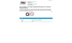 TTEC - Model 10-3148-RTD-1 - Ready-Made Thermocouples & Resistance Temperature Detectors - Datasheet