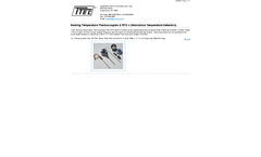 Model HR 160, HR160 - Thermowells & Tubes - Brochure