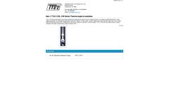 MoistTech - Model CFB - Boiler Thermocouple Assemblies - Datasheet