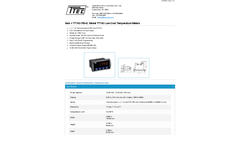 Model TT743-7R0-0 - Low-Cost Temperature Meters - Datasheet