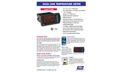 Model TT7000-6R0 - Dual-Line Temperature Meters - Datasheet