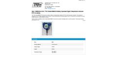 TTEC - Model 8080KNA-AS-6 - Battery Operated Digital Temperature Indicator RTD Assembly - Datasheet