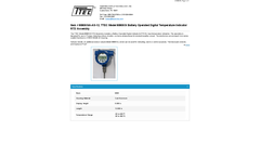 TTEC - Model 8080KNA-AS-12 - Battery Operated Digital Temperature Indicator RTD Assembly - Datasheet