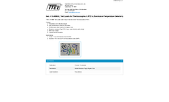 Model 10-4906-E - Test Leads for Thermocouples & Resistance Temperature Detectors - Datasheet
