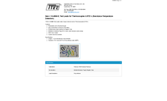 Model 10-4906-R - Test Leads for Thermocouples & Resistance Temperature Detectors - Datasheet
