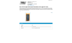 Model BT-727D - Digital Thermocouple Thermometers & Data Loggers - Datasheet