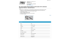 Model 5010-J-36-A05, Style 5010 KWIK-BAY - Thermocouples & Resistance Temperature Detectors - Adjustable Bayonet - Datasheet