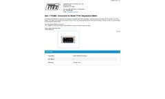 Model TTA2801 - Enclosures for Temperature Meters - Datasheet