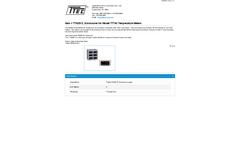 Model TTA2512 - Enclosures for Temperature Meters - Datasheet
