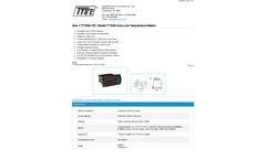 Model TT7000-7R7 - Dual-Line Temperature Meters - Datasheet