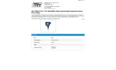 TTEC - Model 8080KCT-AD-4 - Battery Operated Digital Temperature Indicator RTD Assembly - Datasheet