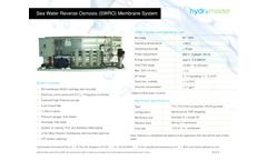 Sea Water Reverse Osmosis Membrane System (SWRO) Brochure