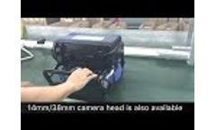 TVBTECH 3199F Sewer Drain Pipe Inspection Camera Video